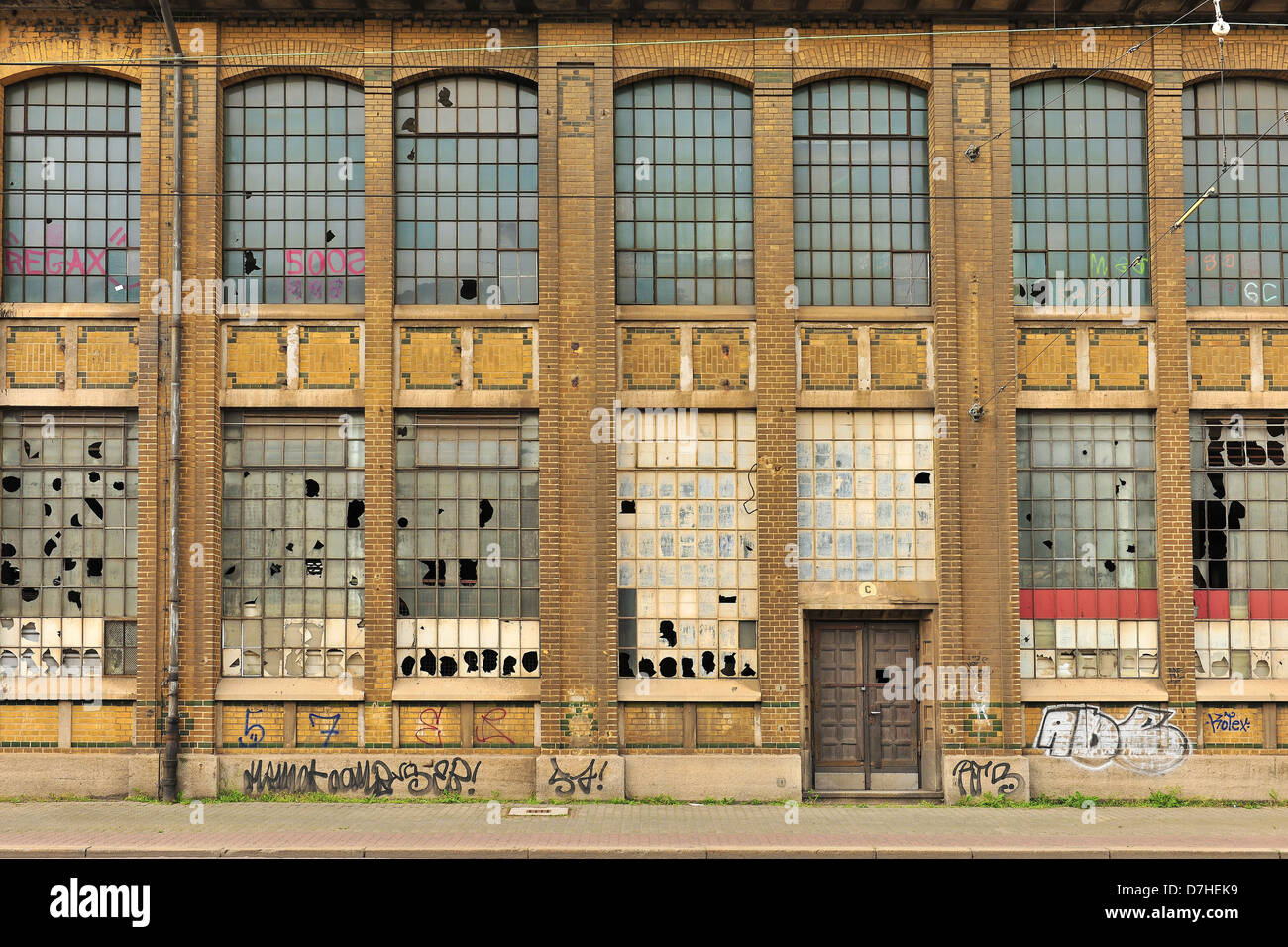 Old factory building in Leipzig - Stock Image