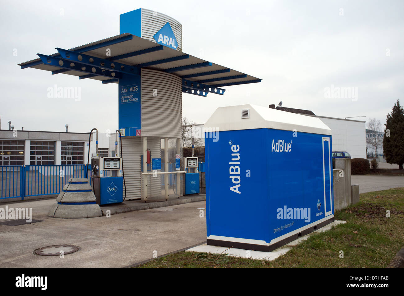 Aral ADS (Automatic Diesel Station) Cologne Germany - Stock Image