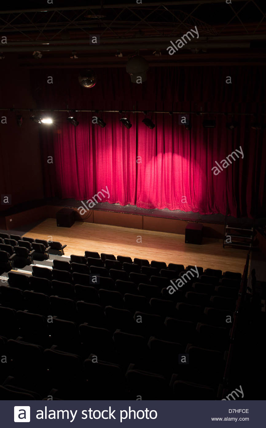 Theatre Stage With Lights And Seats