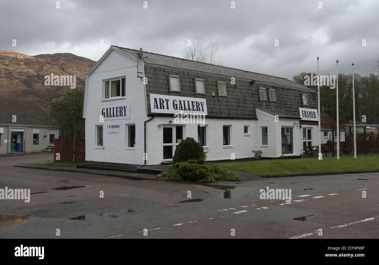 Art Gallery North Ballachulish Scotland  April 2013 - Stock Image