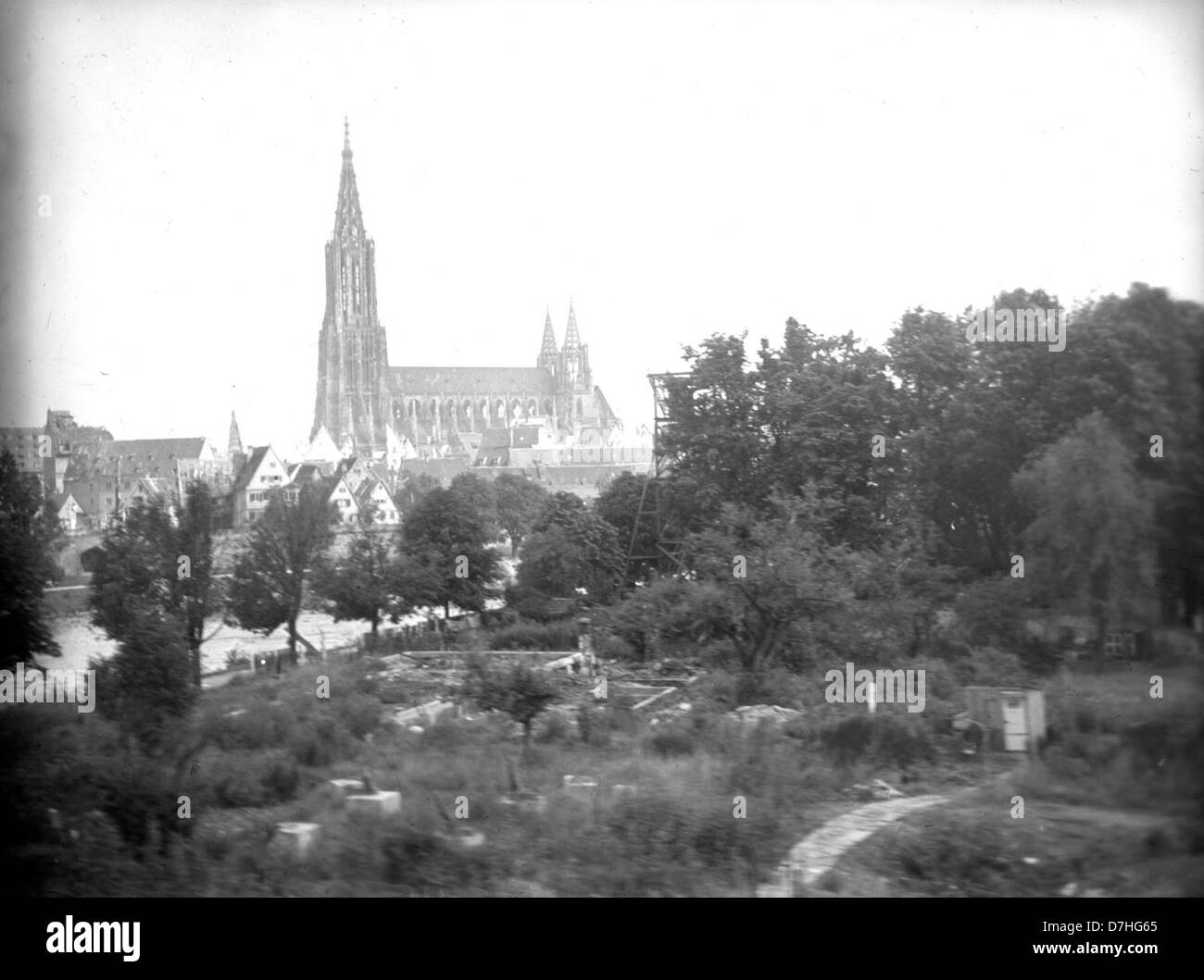 German cathedral, post-WWII Stock Photo