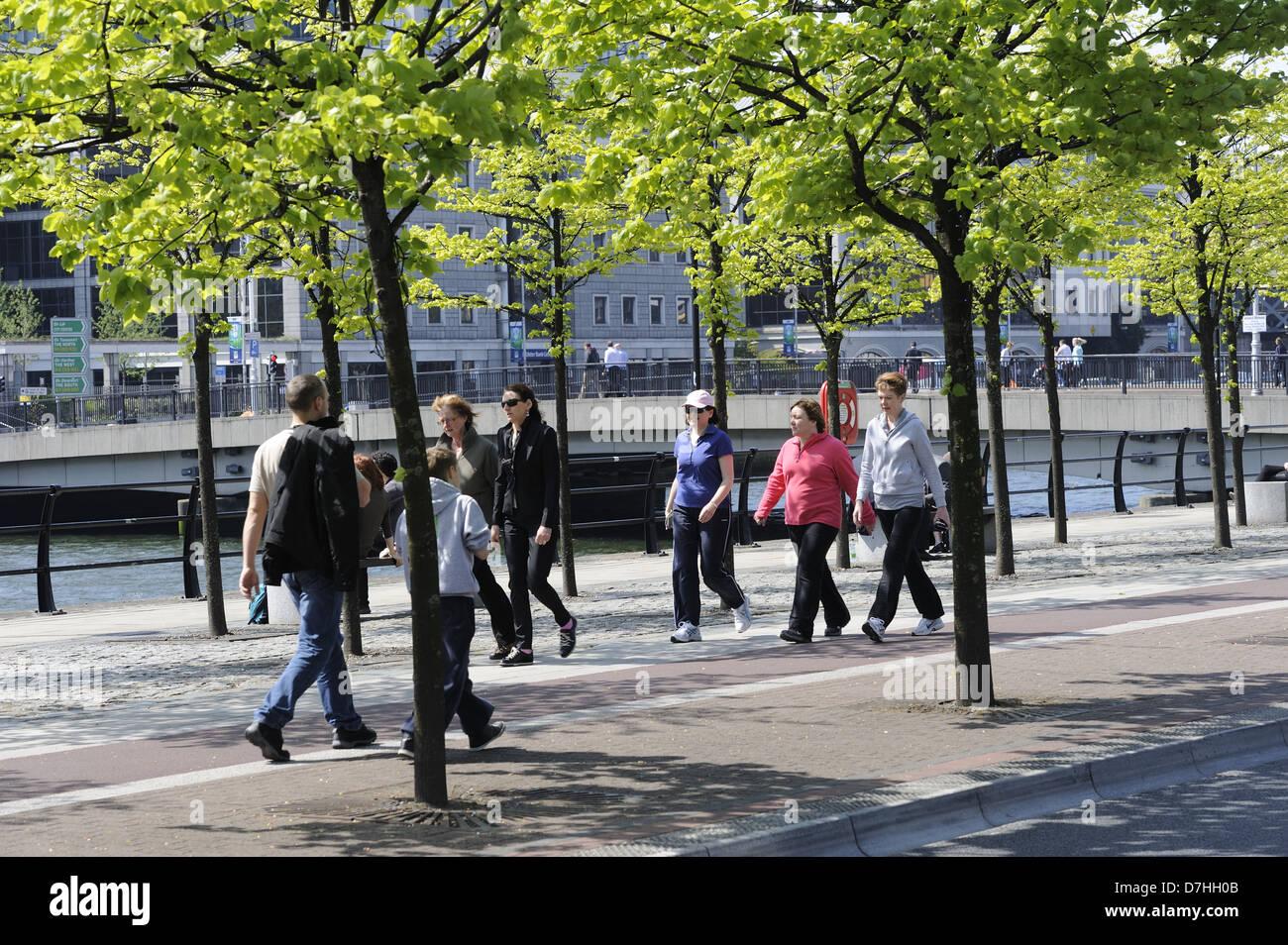 Dubin City Docklands - Stock Image