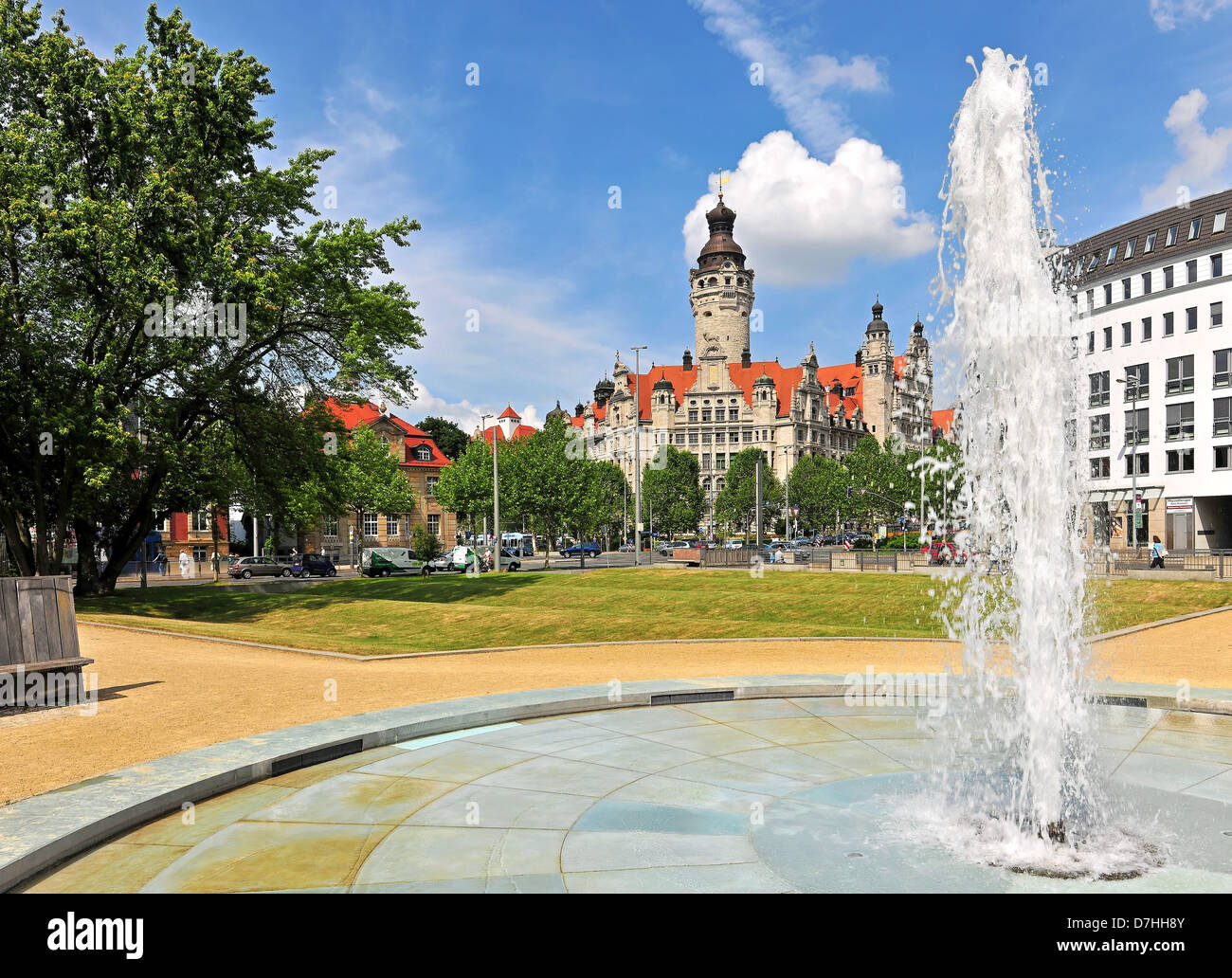 The new city hall in Leipzig - Stock Image