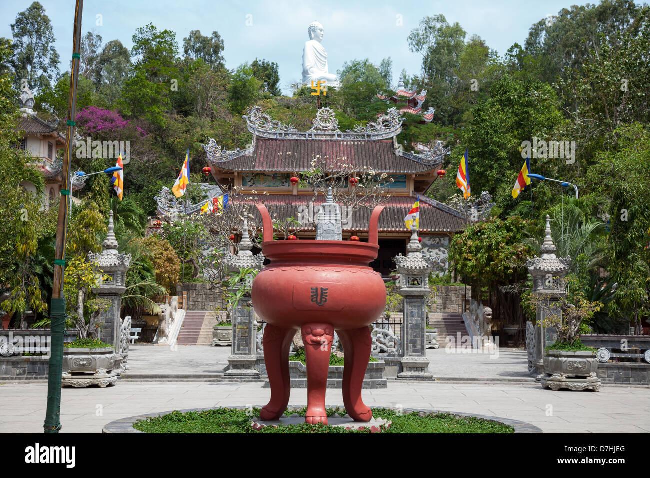 Long son pagoda Nha Trang, Vietnam Stock Photo