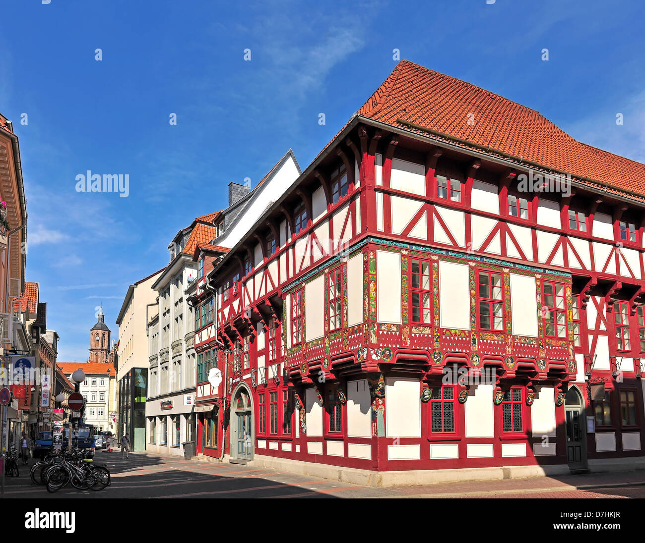 The Junkernschänke, the oldest wine bar in Goettingen, Germany - Stock Image