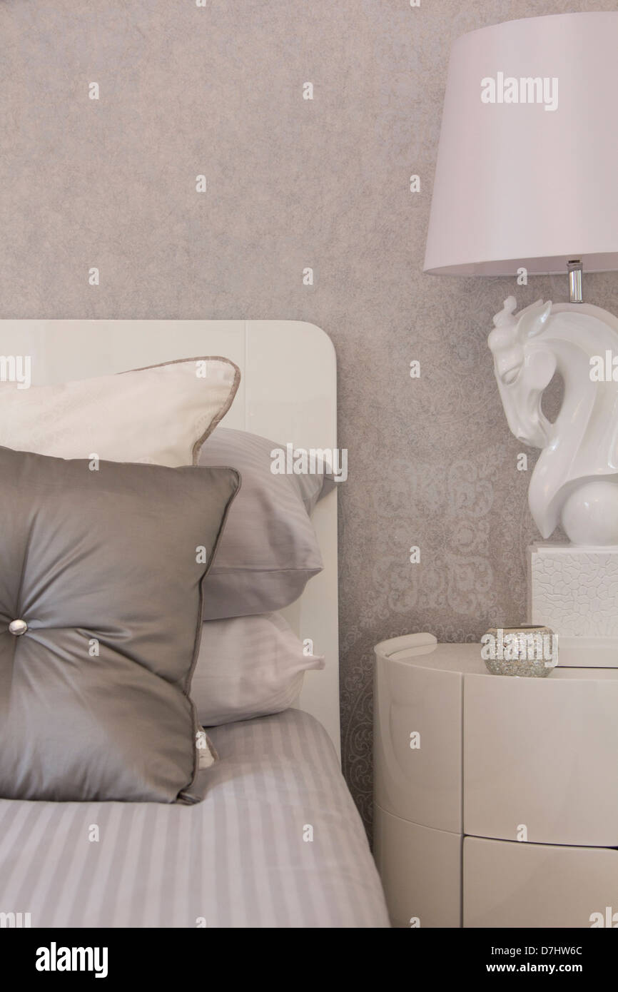 Home interior design. with a fresh light feel - Stock Image