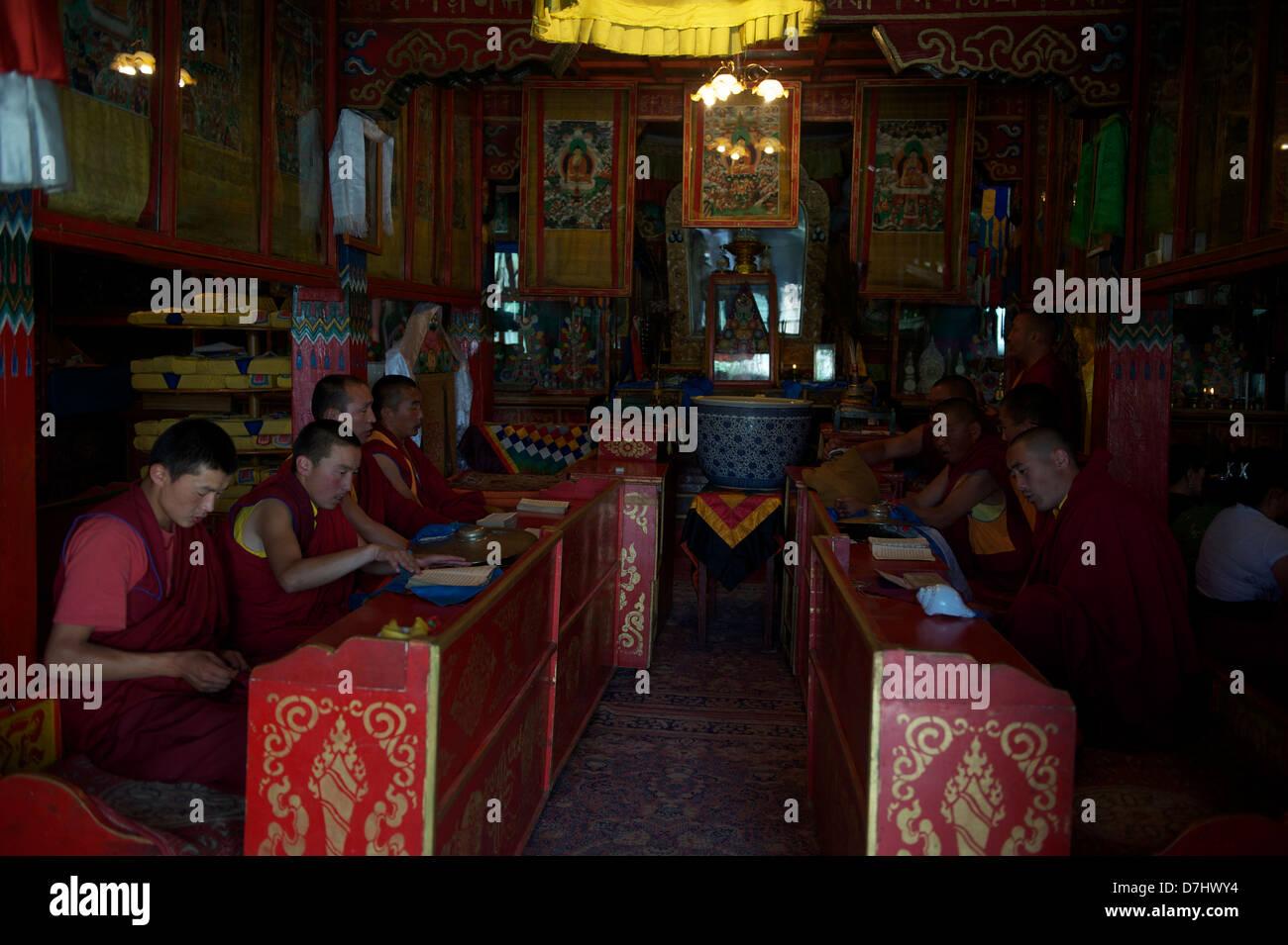 monks at the Erdene zuu monastery - Stock Image