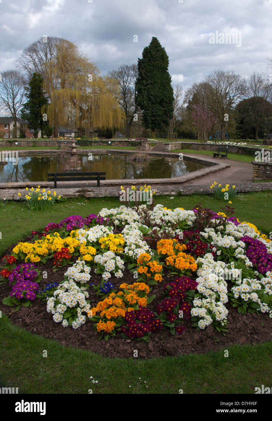 Public Garden Flower Beds Stock Photos & Public Garden Flower Beds ...