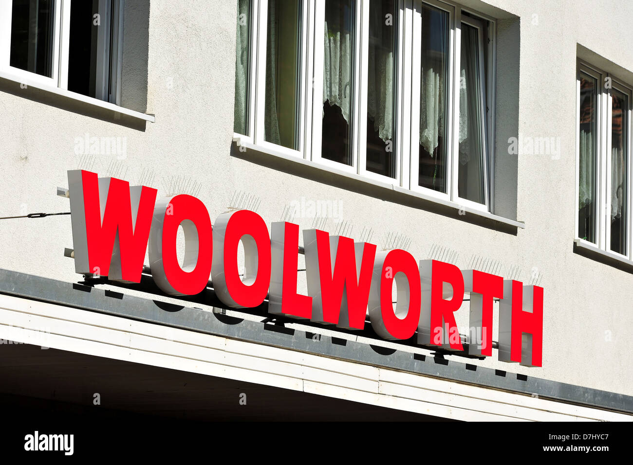 Companies, company signs, names, logo, Woolworth - Stock Image
