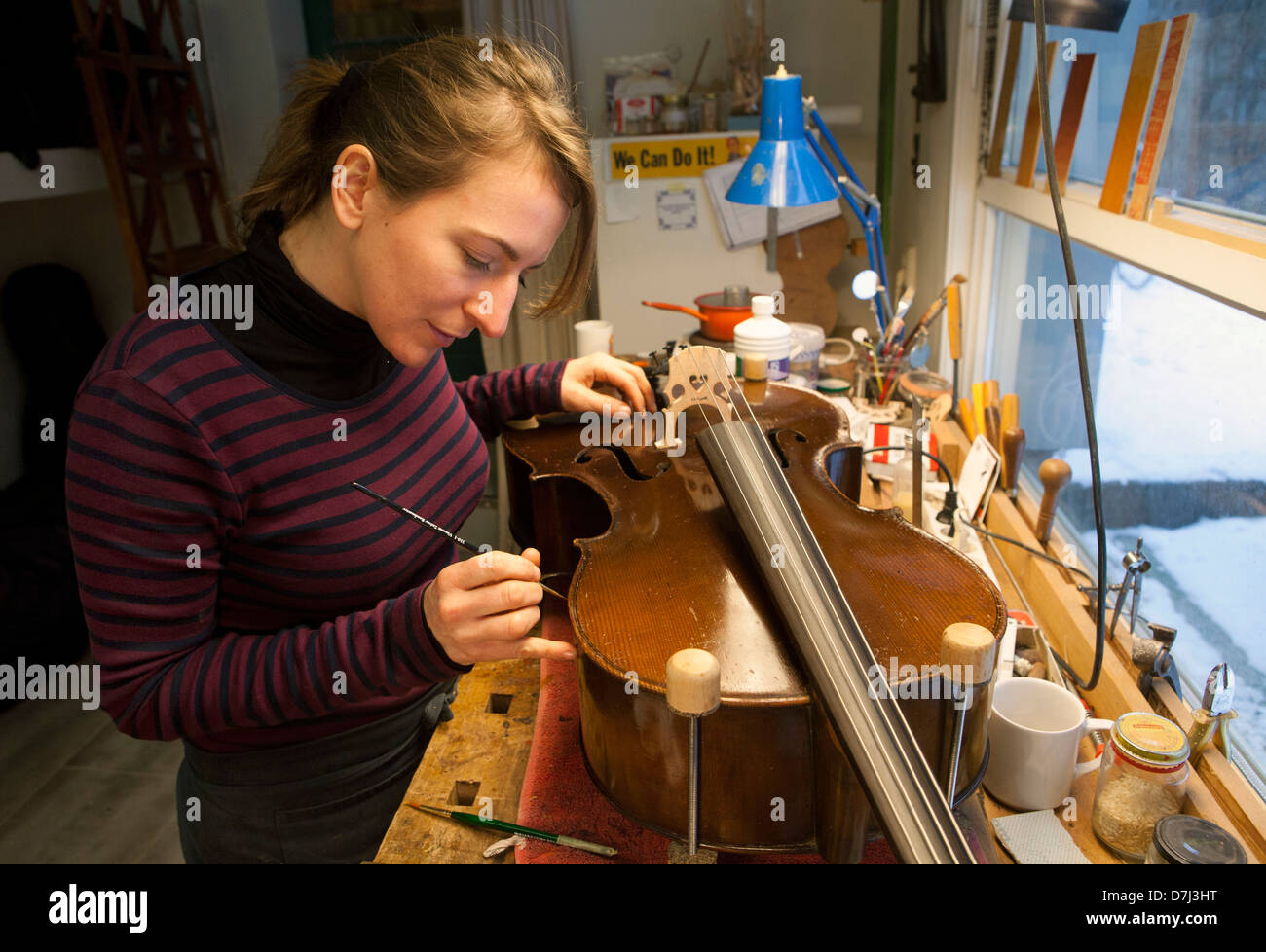music instrument repair shop in holland stock photo 56331684 alamy. Black Bedroom Furniture Sets. Home Design Ideas