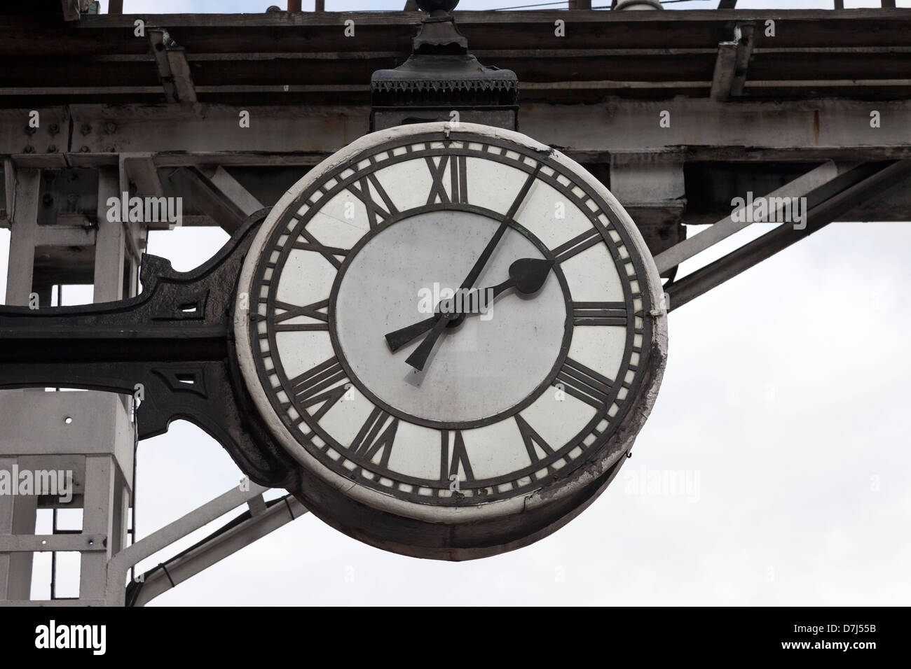 Grosmont Station Clock North Yorks Moor Railway Yorkshire England UK - Stock Image