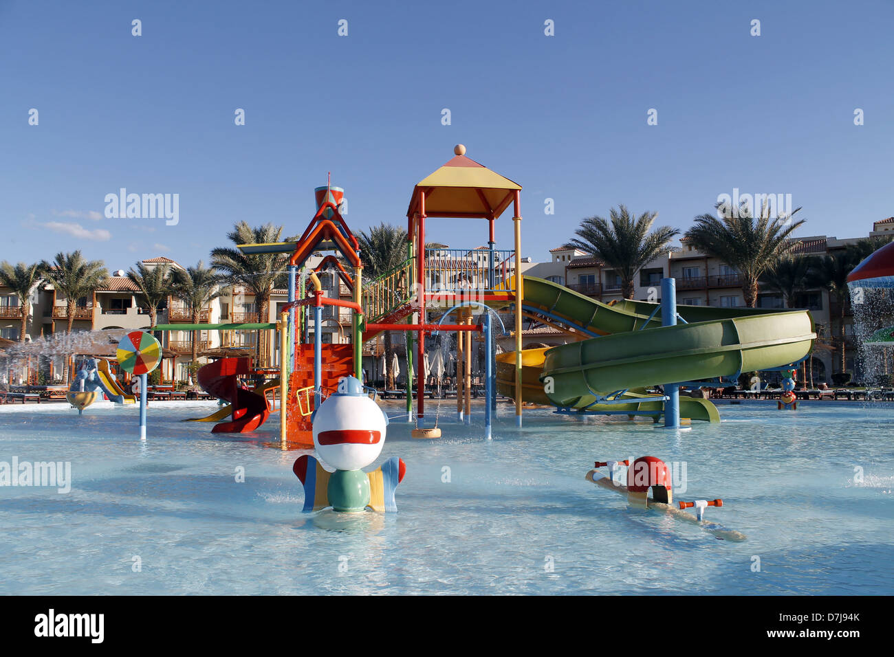 Childrens Swimming Pool Fountains Dana Beach Hotel Hurghada Egypt Stock Photo Alamy
