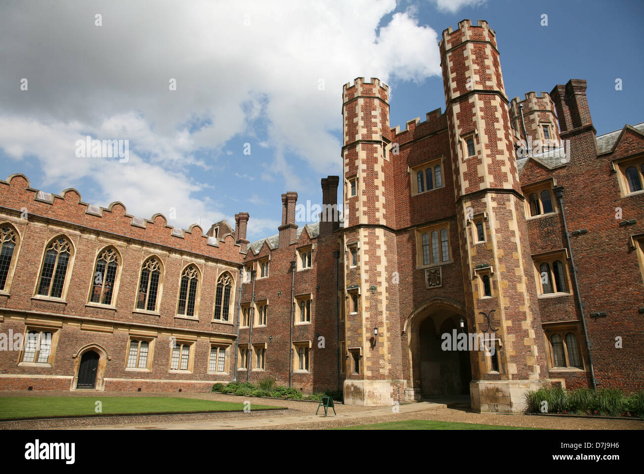St. John's College Cambridge University England - Stock Image