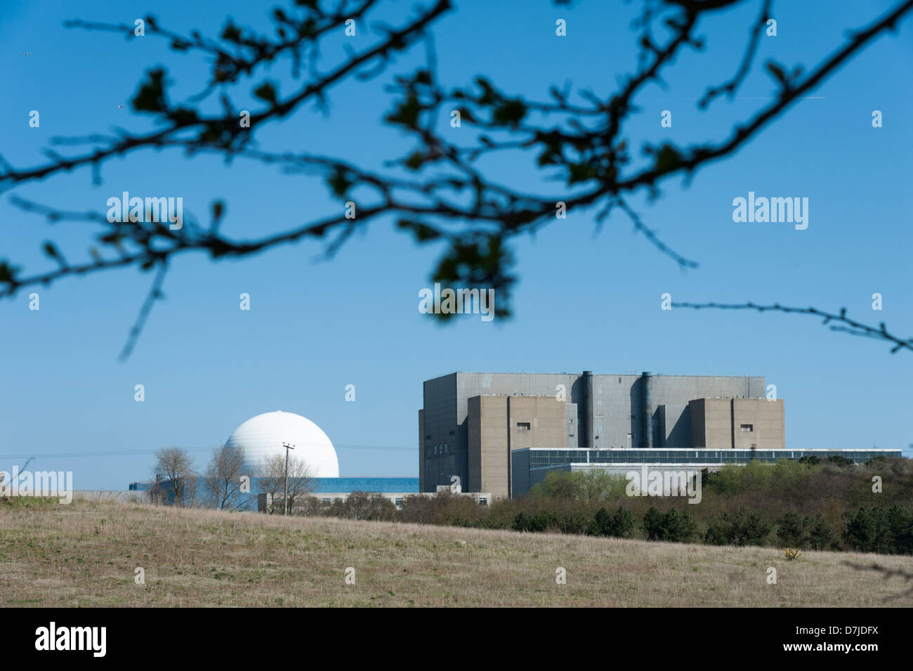 Sizewell nuclear power station Suffolk UK - Stock Image