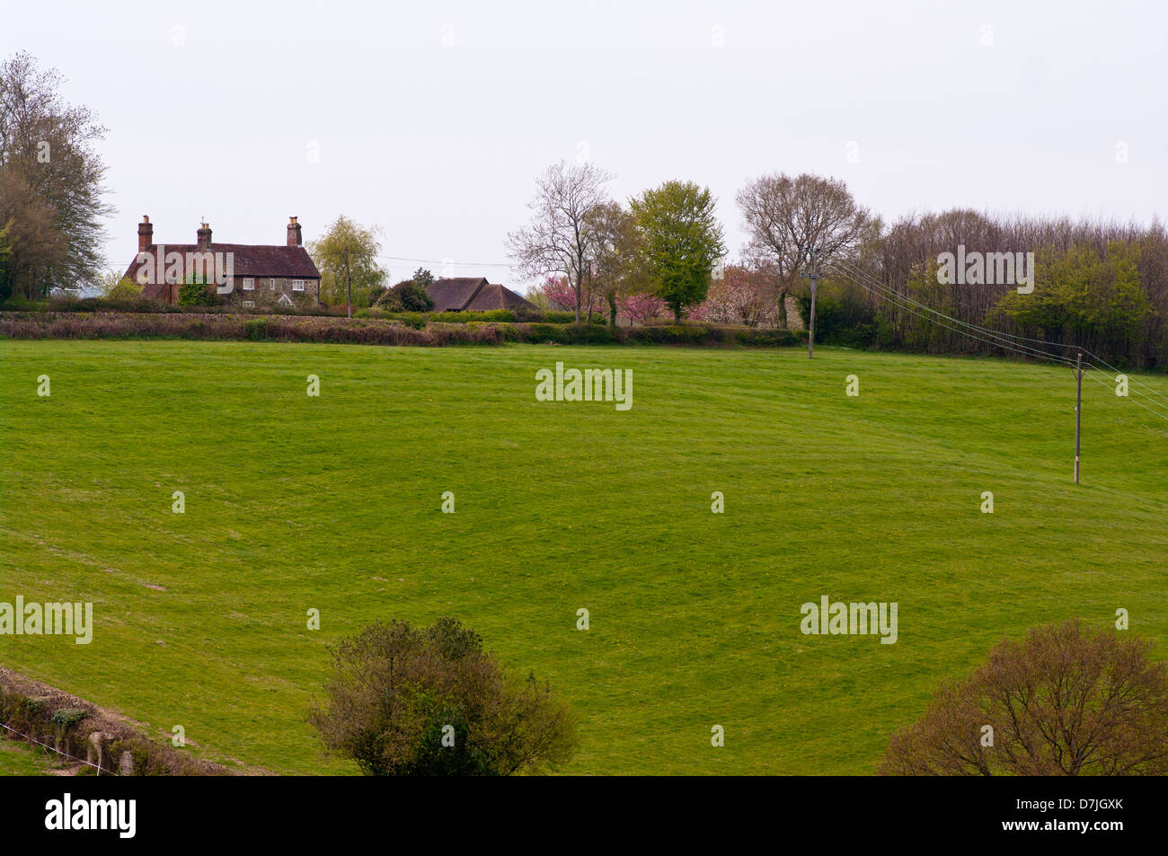 Large Country Detached House In The East Sussex Countryside Near Cripps Corner UK - Stock Image