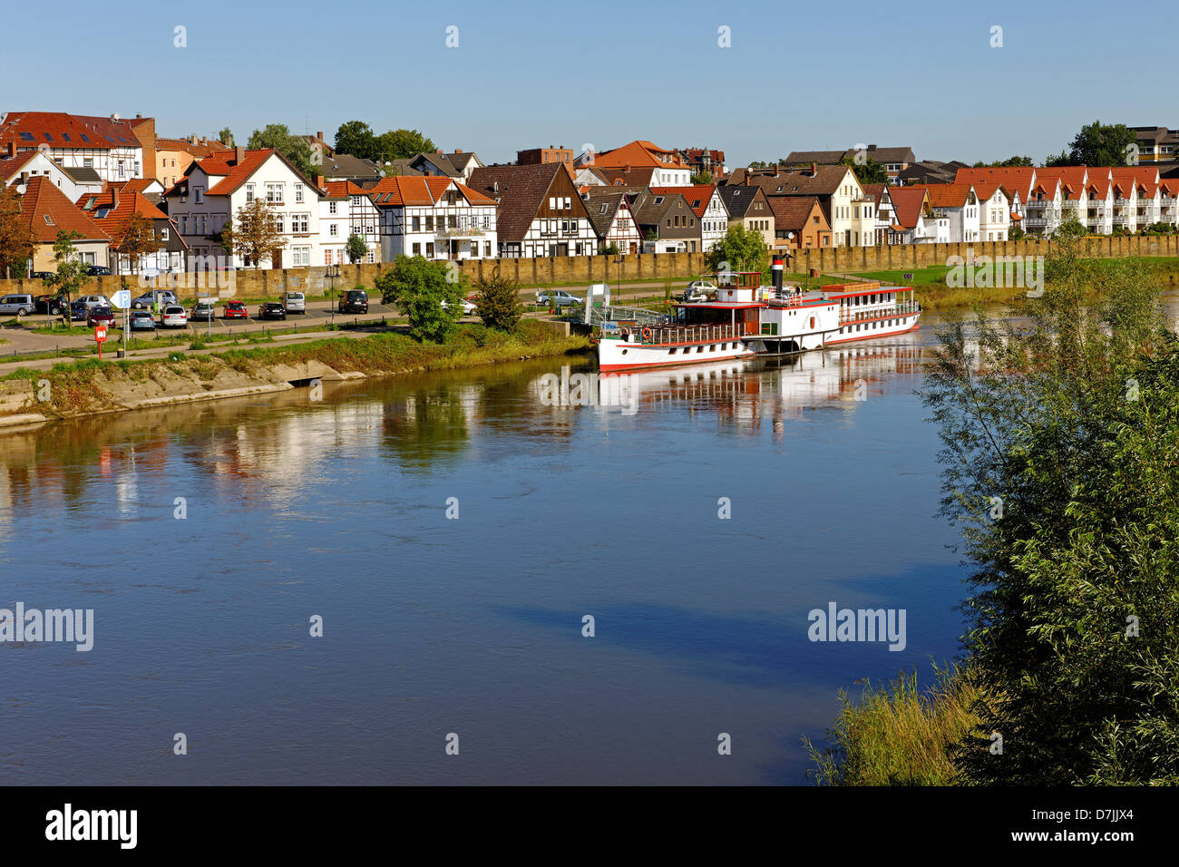 Minden on the Weser, North Rhine-Westphalia, Germany - Stock Image