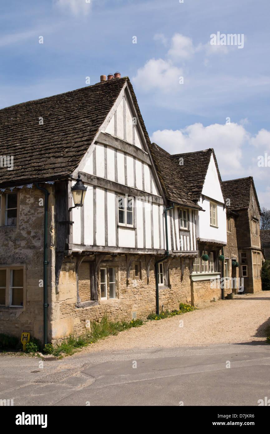 Lacock village in Wiltshire England UK - Stock Image