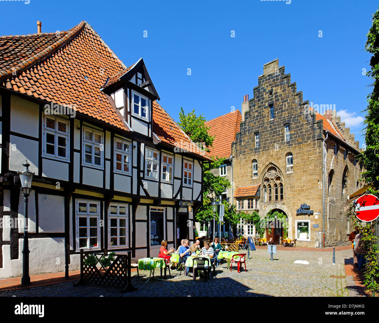 The historical old coin in Ritterstrasse Minden on the Weser, North Rhine-Westphalia, Germany - Stock Image