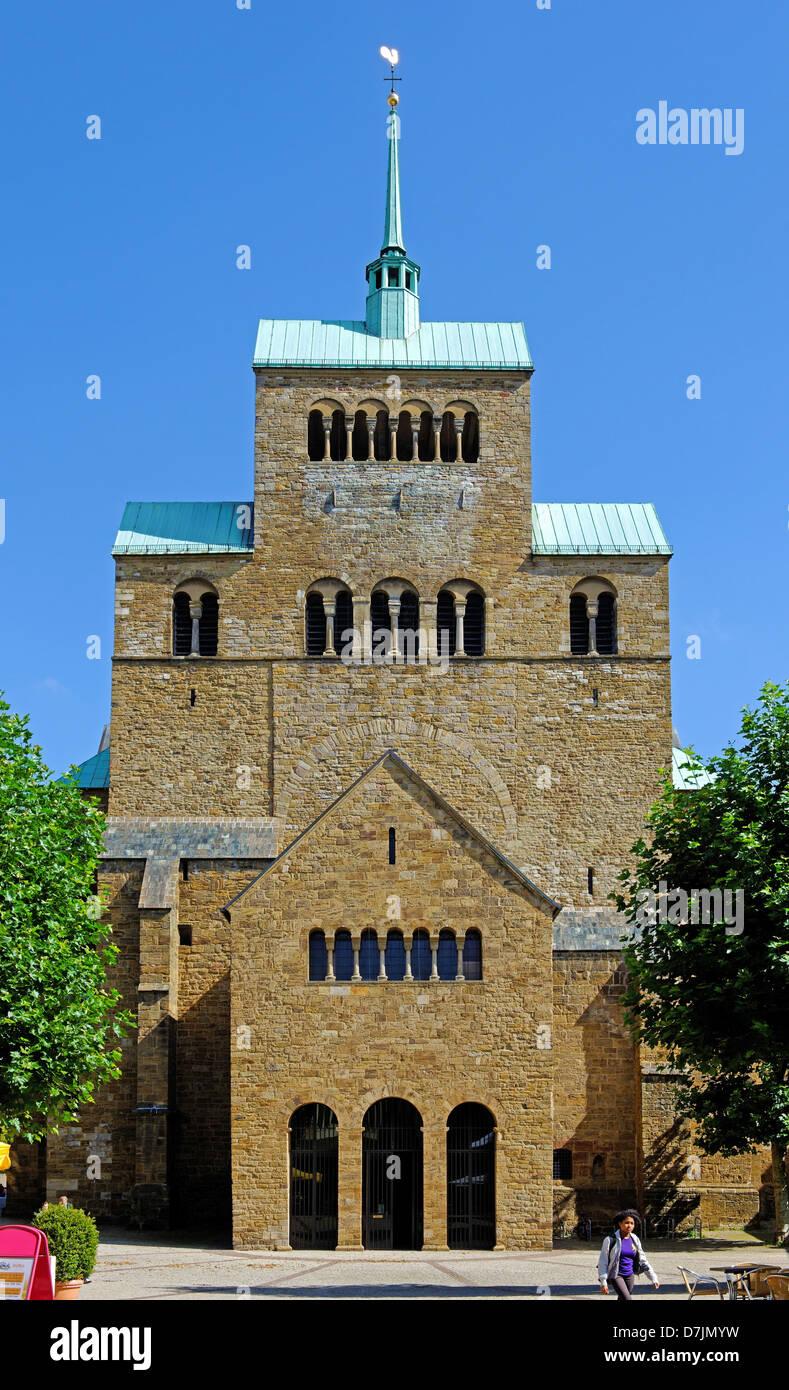 cathedrale of Minden on the Weser, North Rhine-Westphalia, Germany - Stock Image
