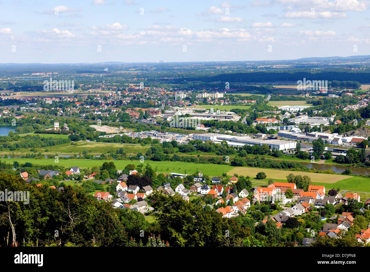 Porta Westfalica, North Rhine-Westphalia, Germany - Stock Image