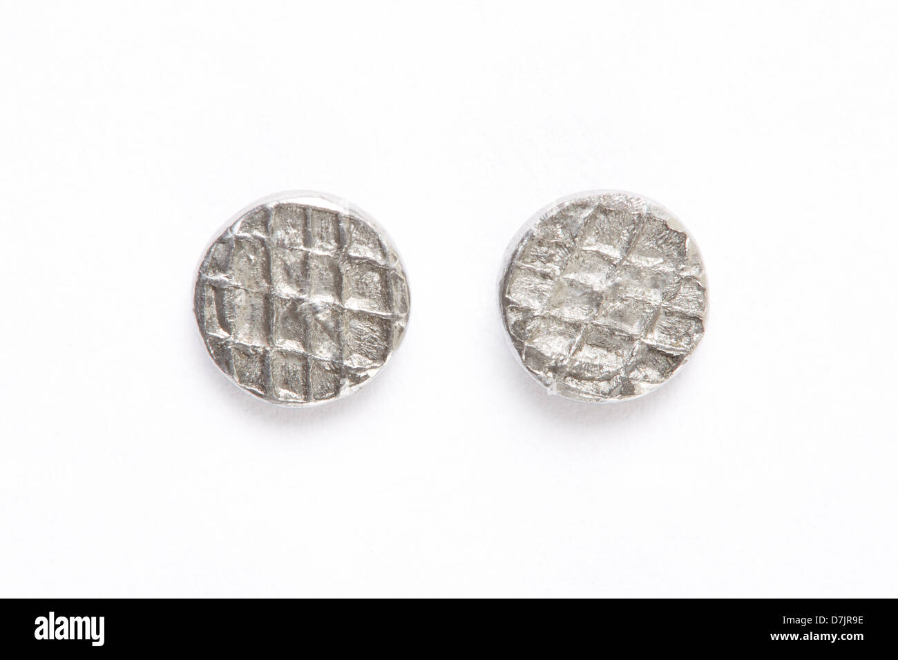Metal nails heads - Stock Image
