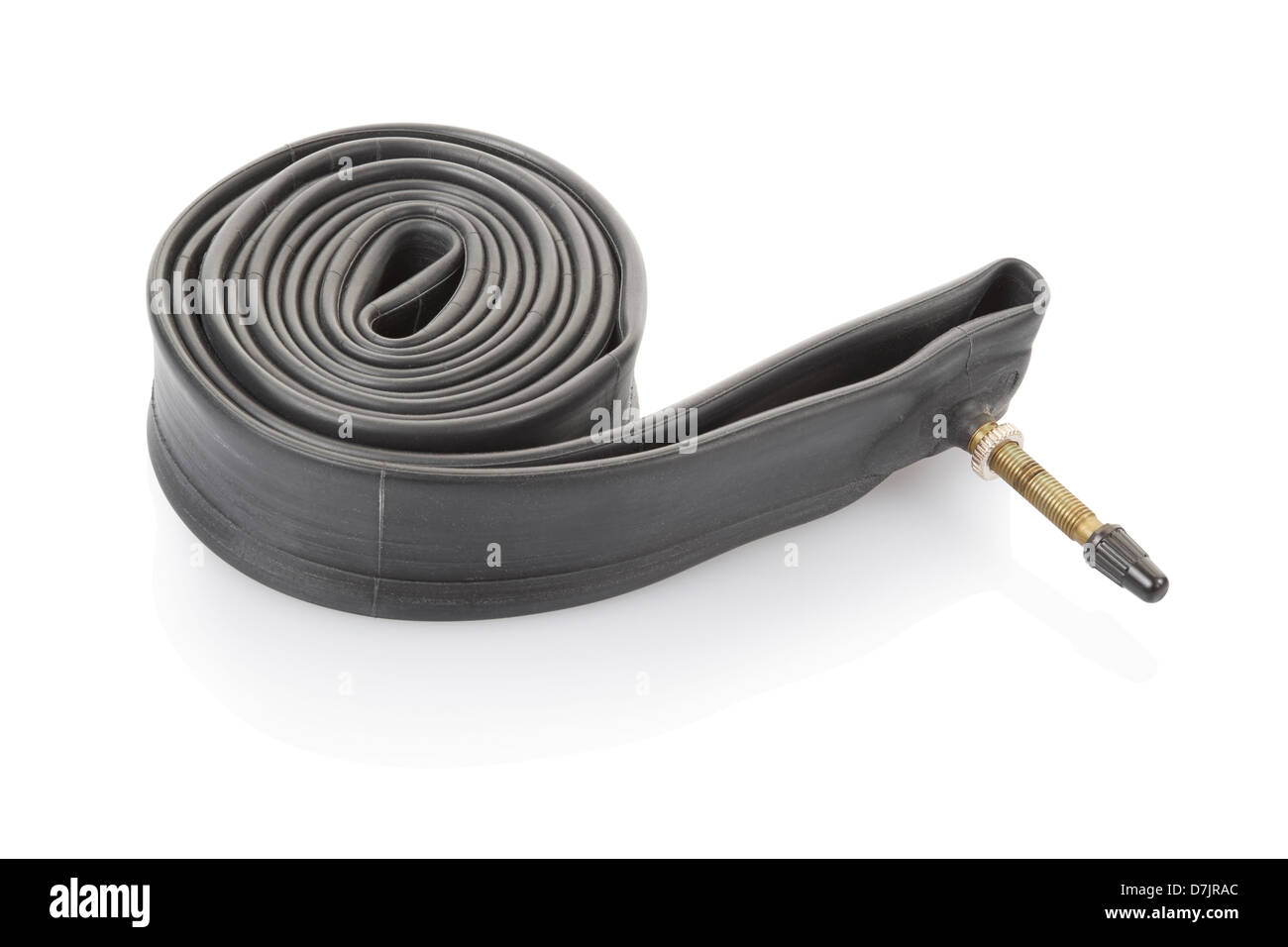 Inner tube for bicycle - Stock Image