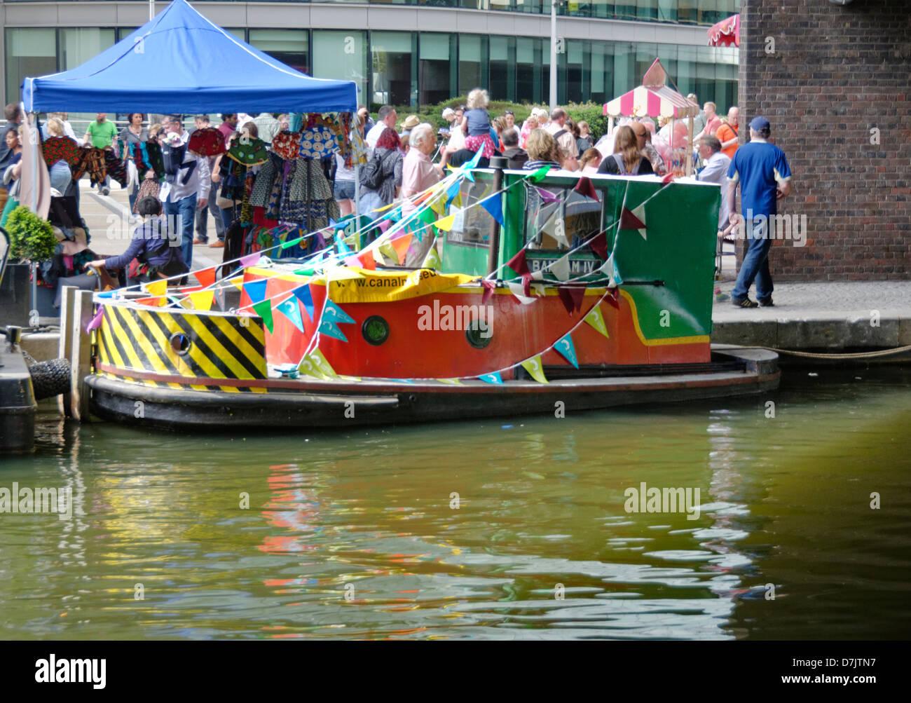 Little Venice Canal Festival - Stock Image
