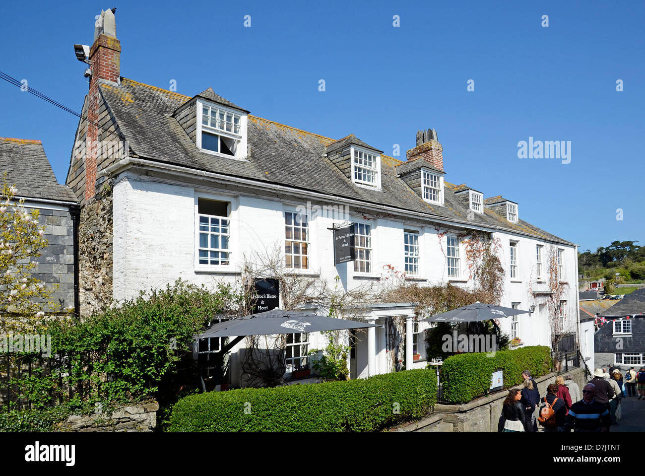 St.Petrocs bistro owned by Rick Stein in Padstow, Cornwall, UK - Stock Image