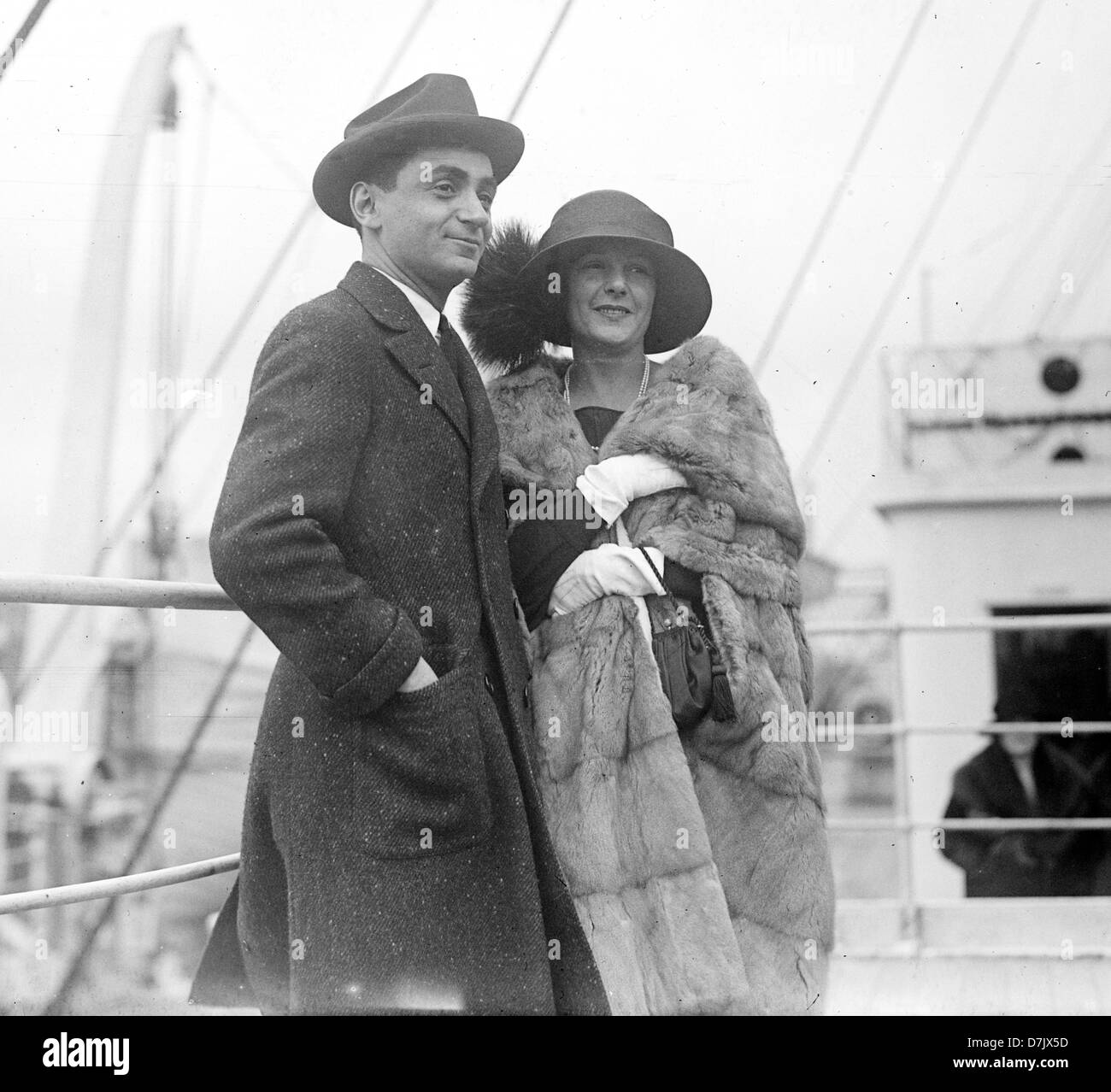 Irving Berlin and wife, Ellen Mackay, American composer, lyricist and songwriter - Stock Image