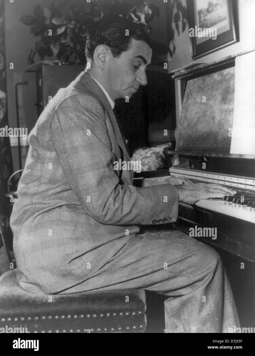 Irving Berlin, American composer, lyricist and songwriter - Stock Image