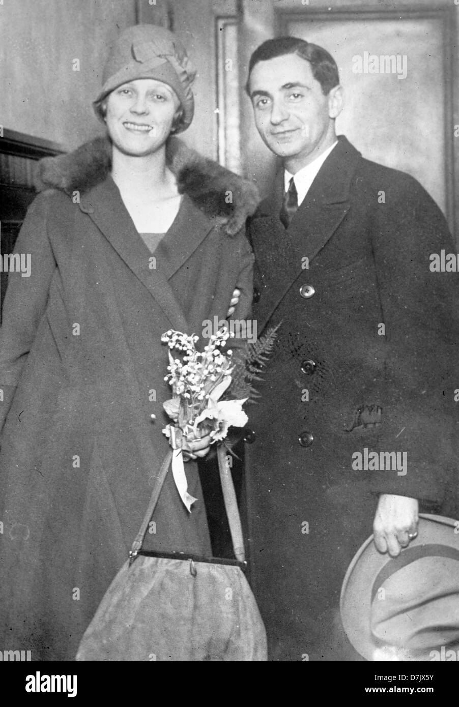 Irving Berlin and wife, American composer, lyricist and songwriter - Stock Image