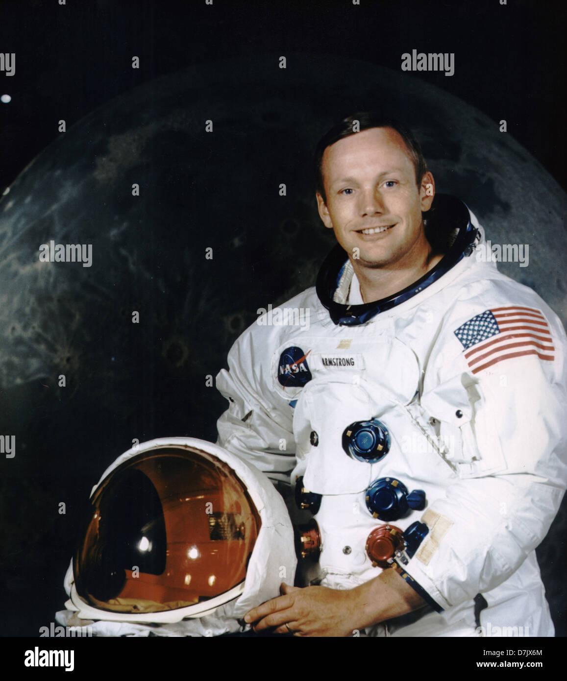 Astronaut Neil Armstrong Stock Photo