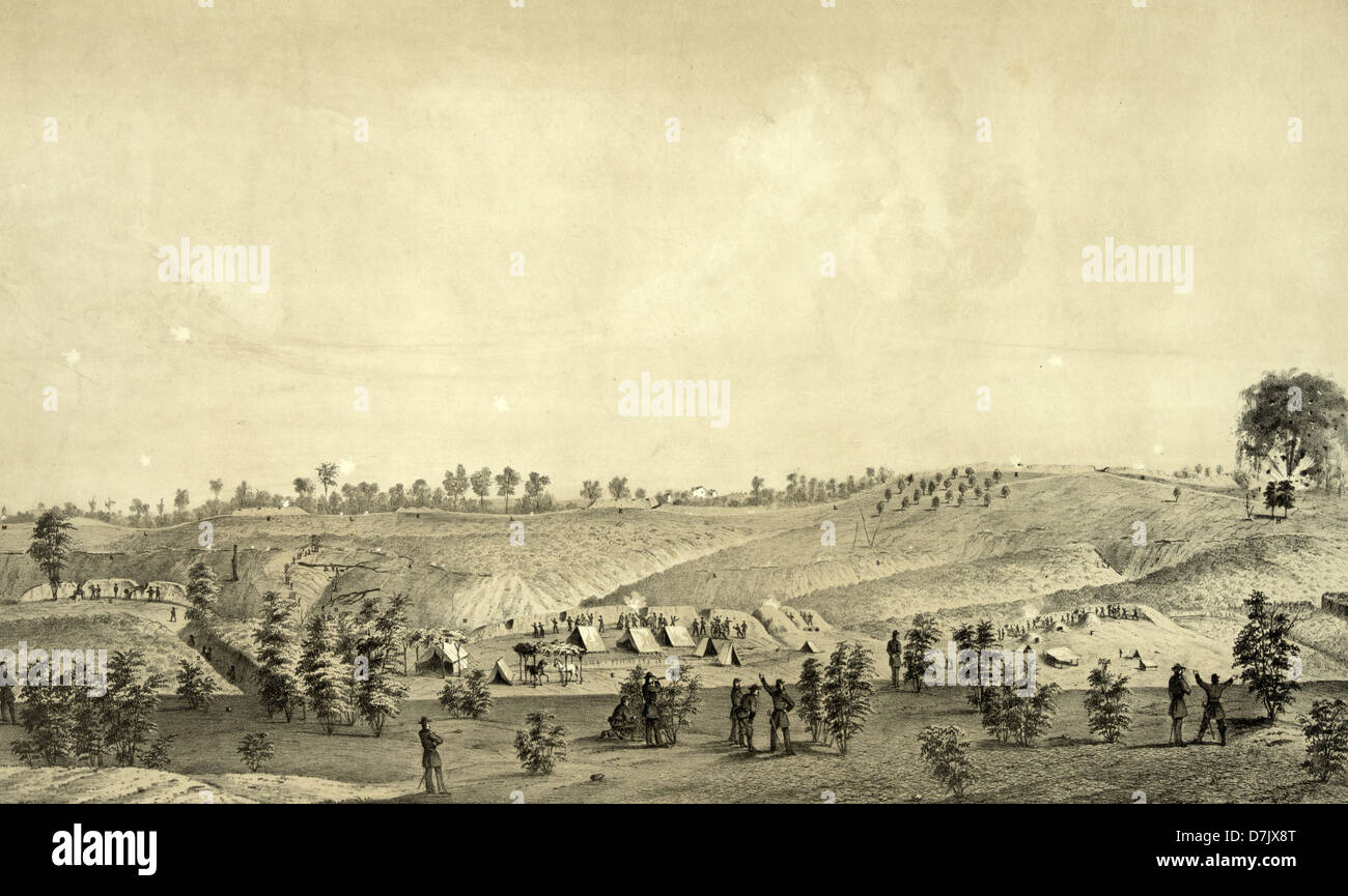 The Siege of Vicksburg, the final major military action in the Vicksburg Campaign of the American Civil War - Stock Image