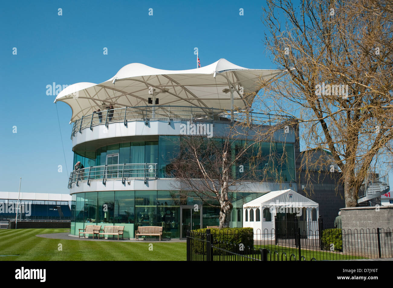 The BDRC Clubhouse at the Silverstone circuit, Northamptonshire,England, UK. - Stock Image