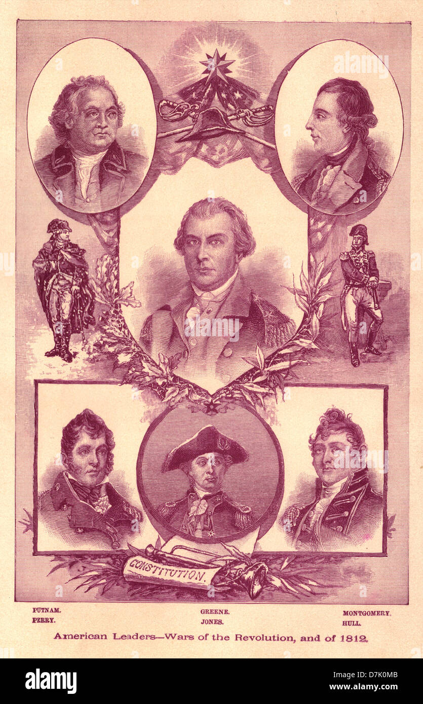 American Leaders - Wars of the Revolution and 1812 - Stock Image