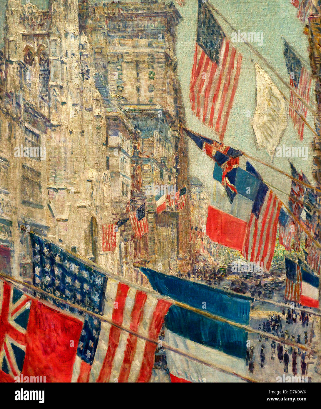 Allies Day May 1917 by Childe Hassam - Stock Image
