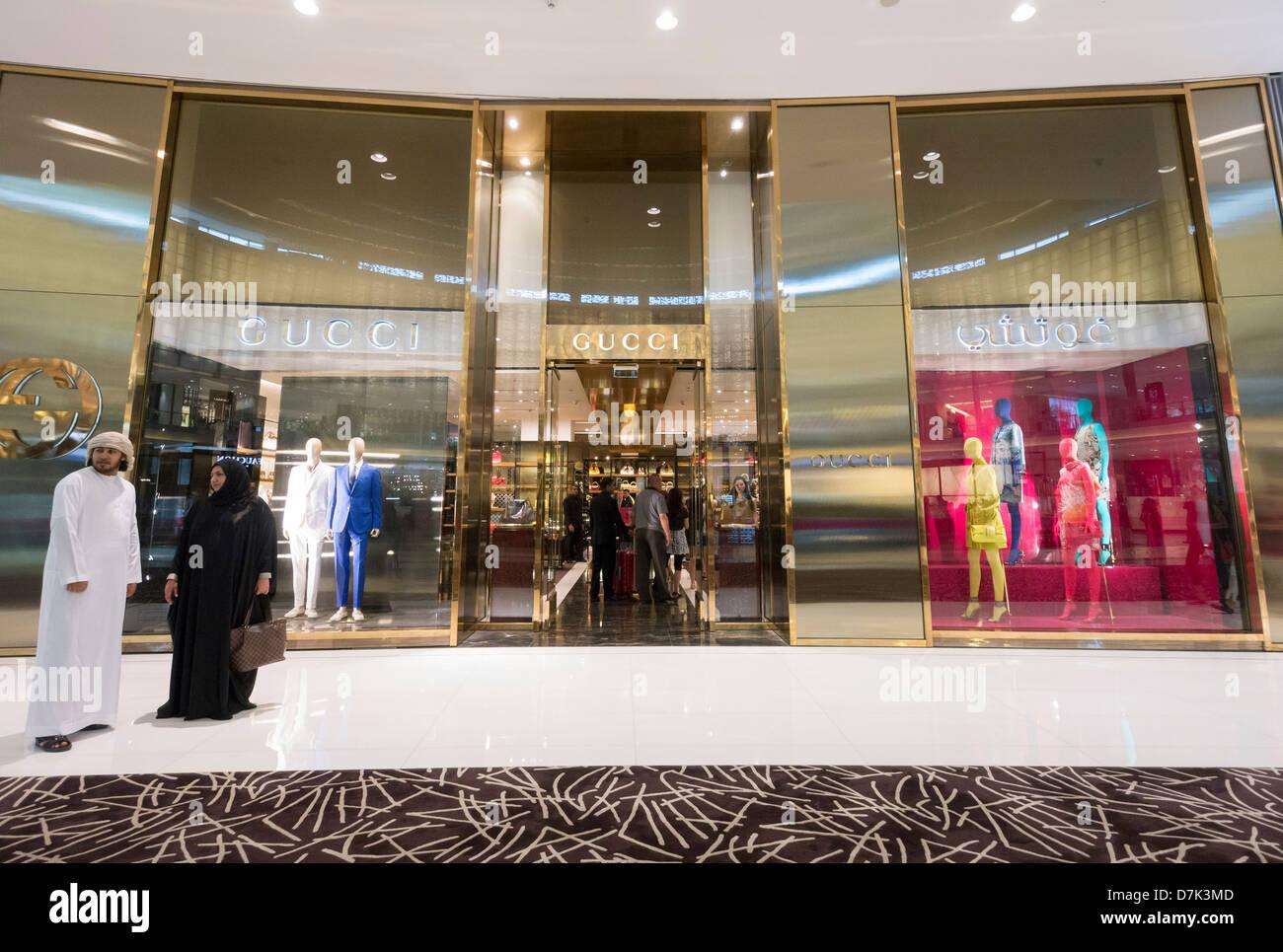Gucci boutique at The Dubai Mall in Dubai United Arab Emirates Stock ... 75bb778e872