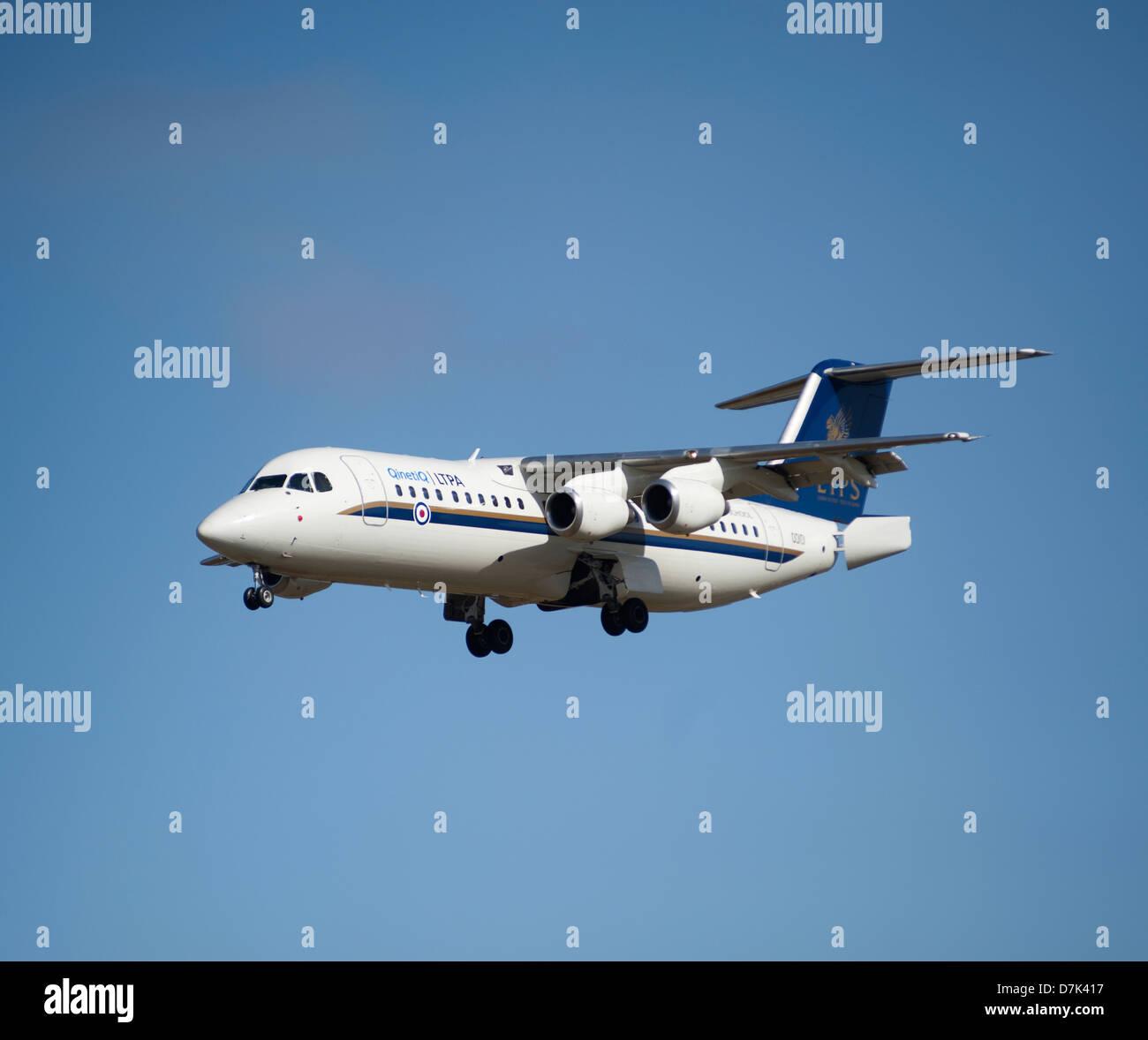 QinetiQ British Aerospace Avro 146-RJ100 ETPS. - Stock Image