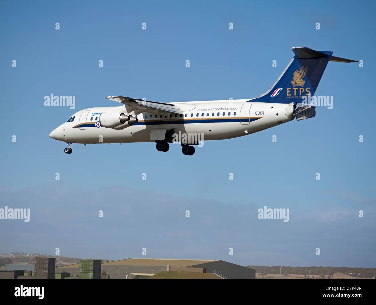 QinetiQ British Aerospace Avro 146-RJ100 ETPS. Stock Photo