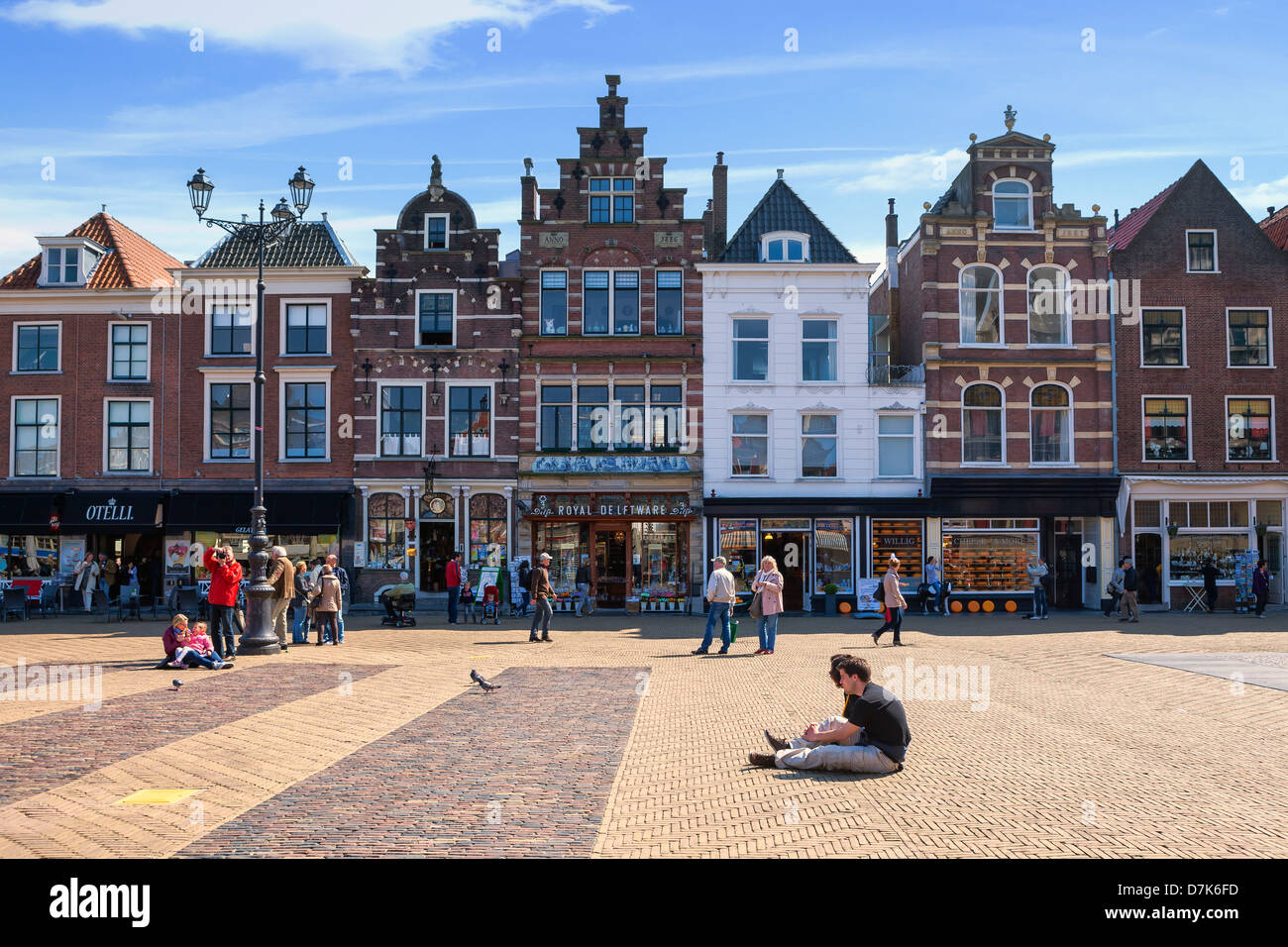 Markt, Delft, South Holland, Netherlands - Stock Image