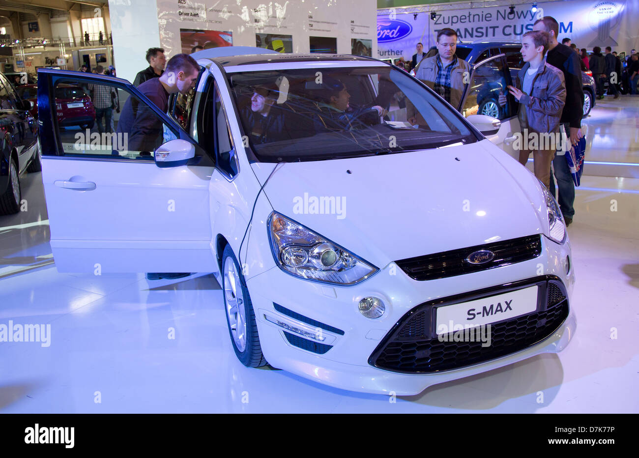 Poznan, Poland, the Ford S-MAX at the Motor Show 2013 - Stock Image