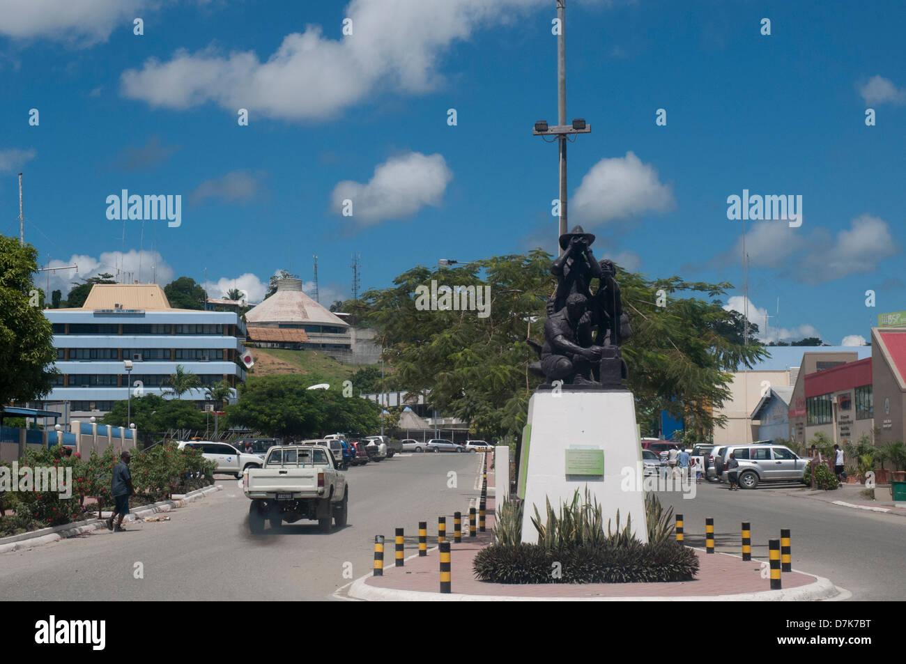 Solomon Islands Scouts & Coastwatchers Memorial in Point Cruz, Honiara - Stock Image