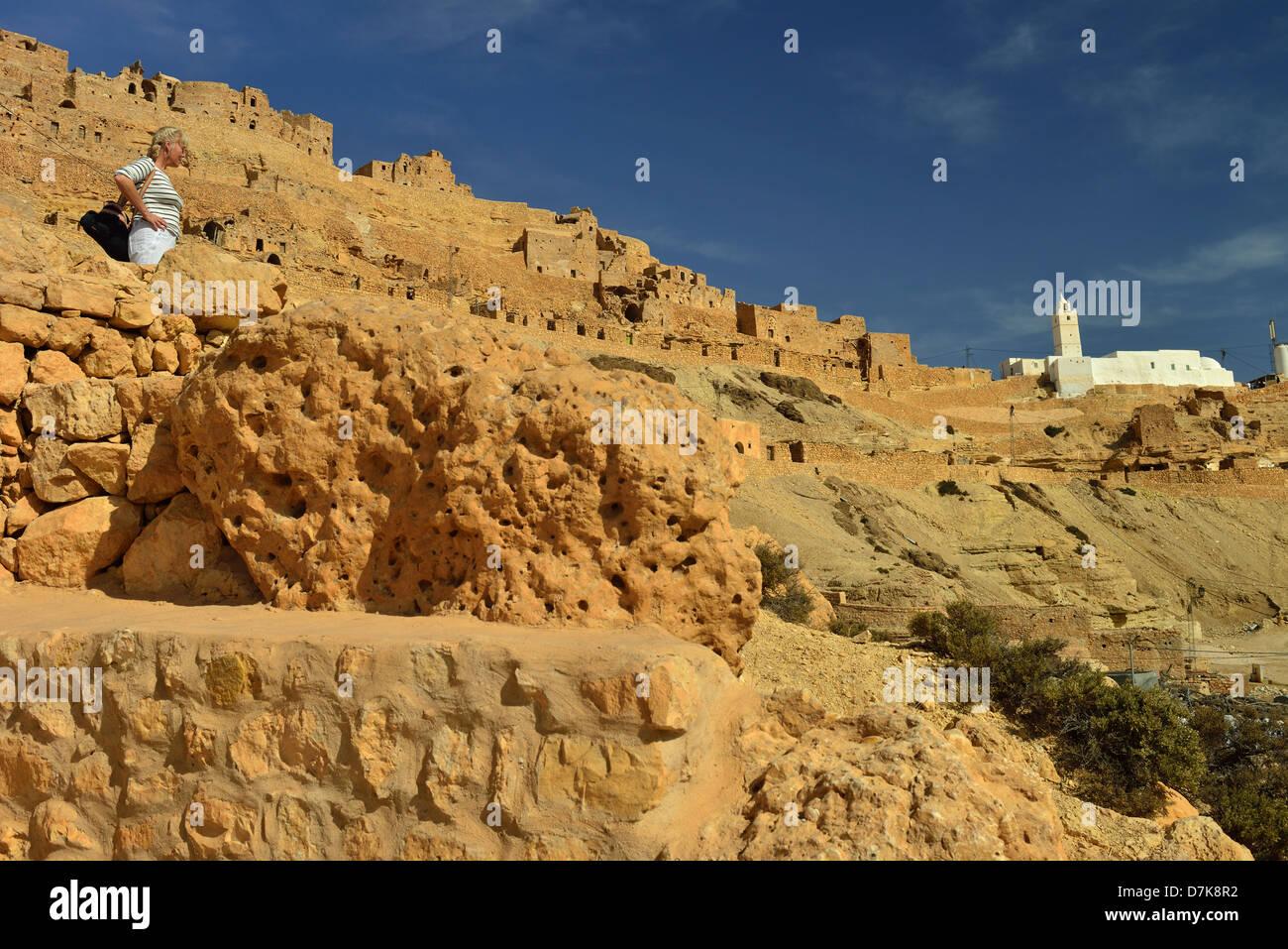 Ksar Chenini, Tataouine Province, Tunesia. - Stock Image