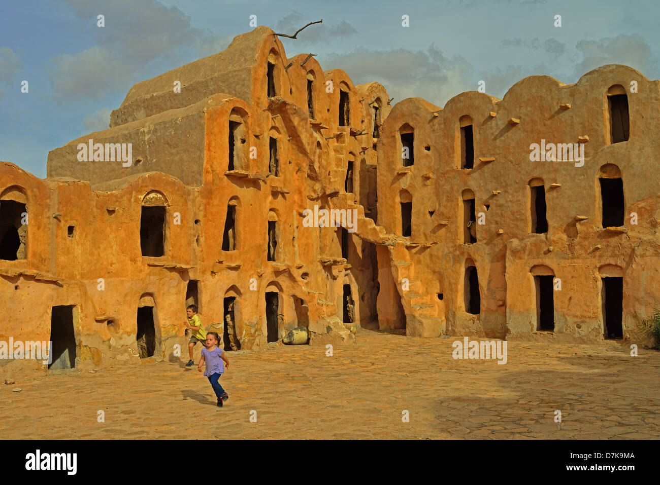 Ksar Ouled Soltane, Tataouine Province, Tunesia. Stock Photo