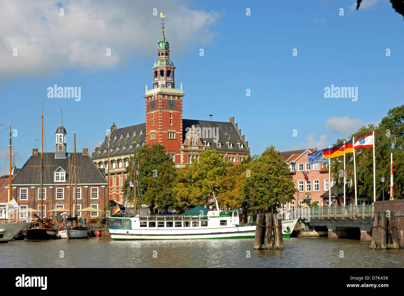Germany, Lower-Saxony, Leer, historic town hall - Stock Image