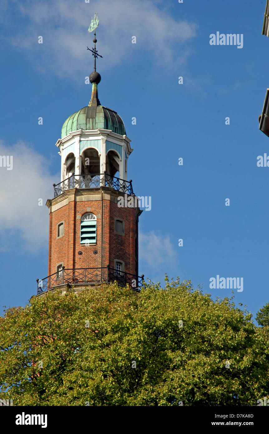 Germany, Lower-Saxony, Leer, evangelical Church - Stock Image