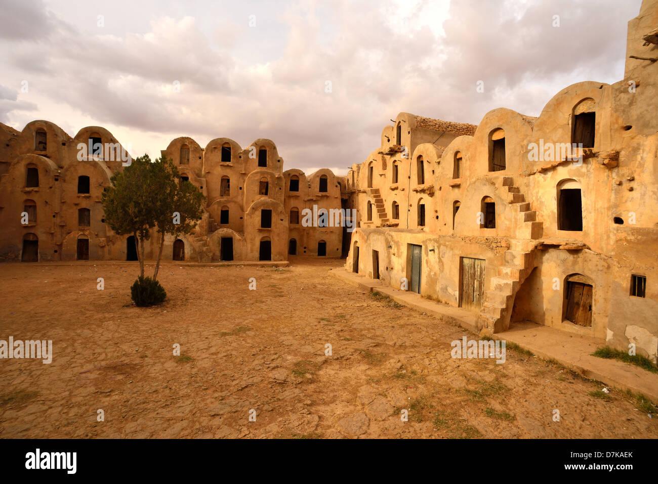 Ksar Ezahara, Tataouine Province, Tunesia. - Stock Image