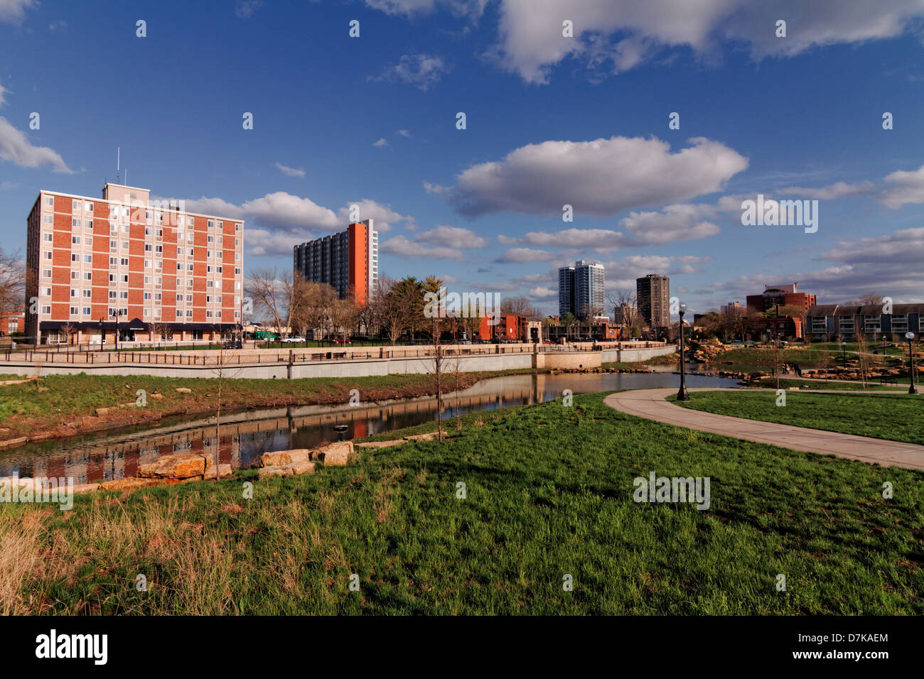 New Apartment buildings in Urbana, IL - Stock Image