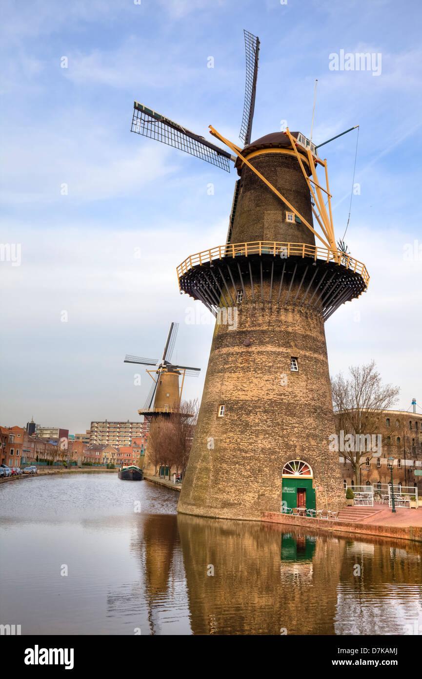 Schiedam, windmill, South Holland, Netherlands Stock Photo