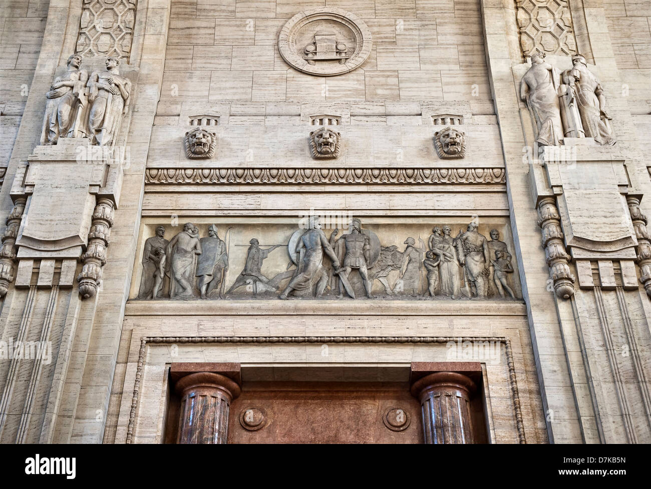 Milan railway station (Milano Centrale), Italy, completed in 1931 - Stock Image